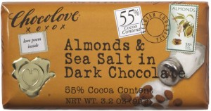 Almonds and Sea Salt in Dark Chocolate Bar by Chocolove