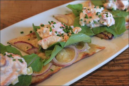Lobster Roll Flatbread at California Pizza Kitchen